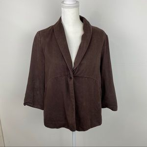 J. Jill Jacket size L color brown.